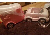 rare baby born car and trailer antrim