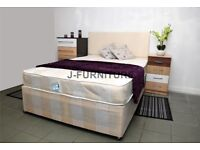 *SALE SALE* SINGLE Double KING DIVAN Bed with Orthopaedic Mattress AVAILABLE IN DIFFERENT COLOURS