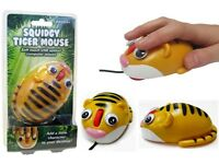 CUTE SQUIDGY SOFT TOUCH TIGER COMPUTER MOUSE FOR LAPTOP OR DESK TOP - USB OPTICAL MOUSE