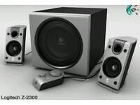 Logitech z2300 200watt pc speaker system