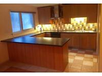 Large Kitchen and Appliances with Worktops