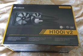 Corsair H100i V2 AIO Liquid Cooler - Brand New, Sealed. 240mm Supports AMD and Intel