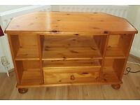 Solid wood TV stand. Ideal for upcycling