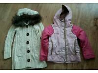 Girls winter coat & cardigan age 6 years