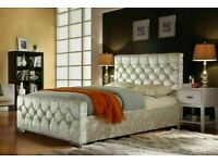 🔵💖TOP QUALITY🔵💖CHESTERFIELD BED IN DOUBLE/KING SIZE FRAME WITH OPTIONAL MATTRESS-