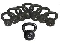 Kettlebells Cast Iron From £8.00 Free Workout DVD 4kg- 50kg Kettlebells BRAND NEW