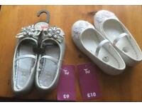 Size 8 children's occasion/party shoes