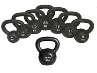 Kettlebells Cast Iron From £8.00 Free Workout DVD 4kg- 50kg Kettlebells NEW