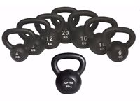 Kettlebells Cast Iron From £8.00 Free Workout DVD 4kg- 50kg Kettlebells, Cast Iron: NEW