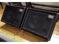 Carlsbro Alpha EM10 Passive Monitor speakers (Wedges) 100W RMS