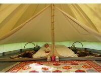 4 metre bell tent bedroom divider