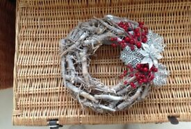 Rustic decorated twig wreath