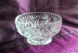 Lead Crystal Glass Bowl Mint Condition