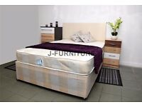 """SALE SALE!! SINGLE,DOUBLE Kingsize Divan Bed With 10"""" Full Orthopaedic Mattress"""