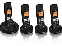 NEW! BT 3510 Digital Cordless Home Phone with Answer Machine with 4 Handset
