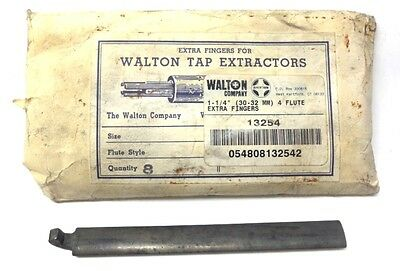 Walton Tap Extractors Replacement Extra Fingers 13254 Qty. 8 1-14 30-32 Mm
