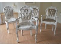 *** AMAZING SHABBY CHIC DINING TABLE AND 4 CHAIRS *** FOR SALE !!! WOW !!! GREAT PRICE !!!