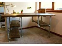 Handmade Rustic Wood and Pipe Desks