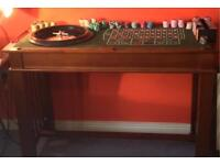 4 in 1 CASINO & COFFEE TABLE - BLACKJACK CRAPS & ROULETTE. MAN CAVE TABLE!