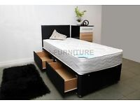 "NEW STOCK.BRAND NEW.SUPER DEAL! DIVAN BED WITH DEEP QUILT 8.5"" MATTRESS.ALL SIZES"