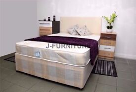 """[[EXPRESS SAME DAY DELIVERY]] New Kingsize Divan Bed With 10"""" Full Orthopaedic Mattress"""