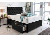 "MADE TO ORDER DIVAN BEDS WITH 10"" MEMORY SPRUNG MATTRESS"