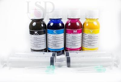 4x100ml Pigment Ink For Epson 127 T127 Workforce 60 435 5...