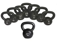 Kettlebells Cast Iron From £8.00 Free Workout DVD 4kg- 50kg Kettlebells