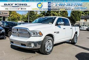 2017 Ram 1500 LARAMIE, BLUETOOTH, HTD & VENT LEATHER, 20 WHEELS