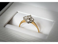Vintage five stone diamond engagement ring