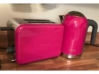 Kenwood k mix pink kettle and toaster