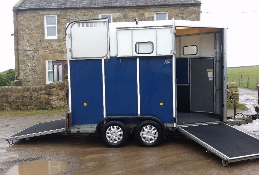 Clean Blue Ifor Williams 510 Horse Trailer In Penicuik