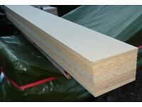 10 Pieces of NEW 18mm EGGAR Commercial Grade High Density Chipboard 8ft X 11in (2445mm x 275mm)
