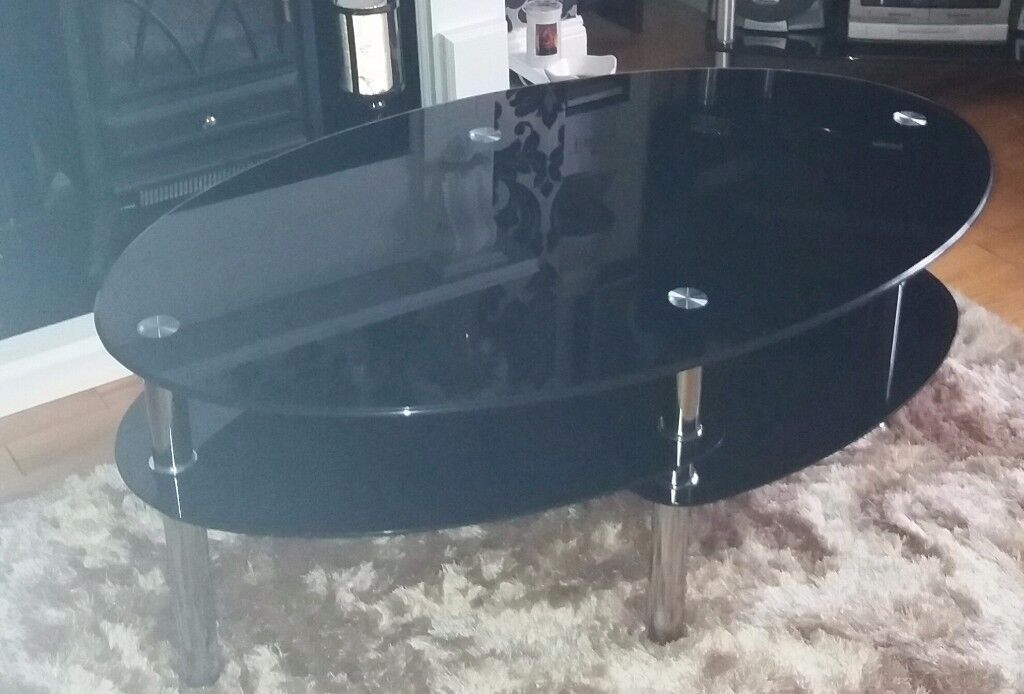 Black and Chrome Coffee Table