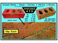 Bricks ~ Unused ~ 50p Each