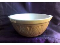 REDUCED Vintage Traditional Stoneware 1950s Mixing Bowl Unused