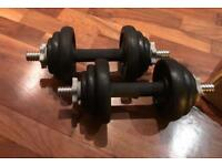 ** York 20kg Cast Iron Dumbell Set**