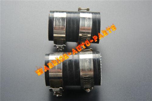 "FOR HONDA CR80 CR125 CR250 CR450 HIGH TEMP EXHAUST COUPLING CLAMP 1""ID 2PC BLACK"