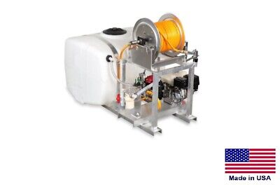 Sprayer Commercial - Skid Mounted -  9.5 Gpm - Manual Reel - 100 Gallon Tank