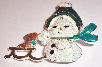 Baby Snowman (VINTAGE  ''   BABY  SNOWMAN WITH HER FRIEND ''   BROOCH)