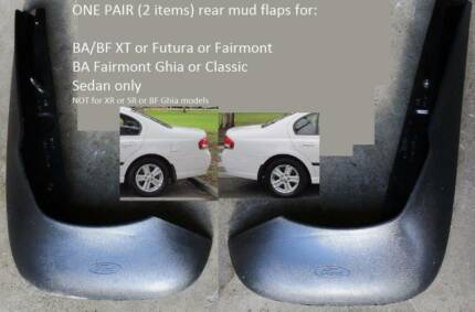 BA BF Ford Falcon Sedan XT STD REAR PAIR Genuine Mudflaps Mudflap