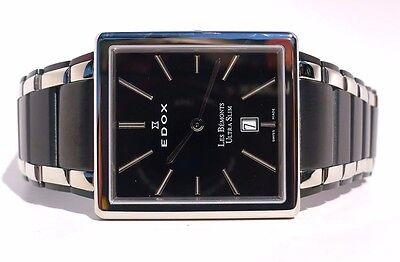 Edox Les Bemonts Rectangular Ultra Slim Men's Watch 27031357NNIN REPAIR NEEDED!