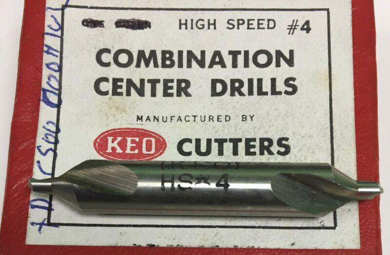 Keo Combination Center Drill #4-60 Deg. #10400 (2 PC)