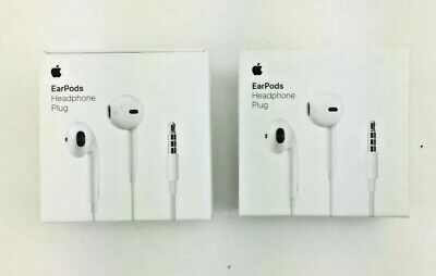 Two (2) Apple EarPods White In Ear Headsets - MNHF2ZM/A