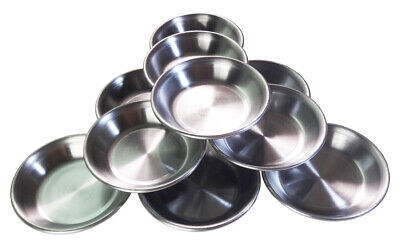 10-Piece Stainless Steel 3.4inches Small Seasoning Dishes Dipping Bowls Sauce