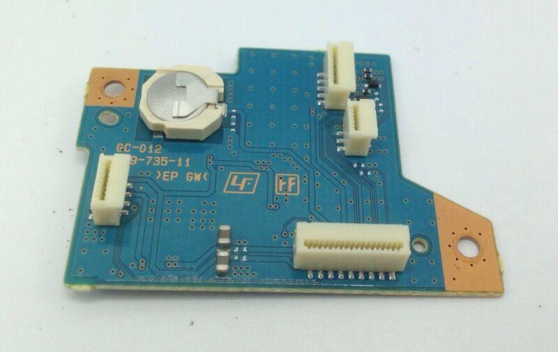 Sony HXR-NX5u NX5u Part GC-012 PCB With New Sony Clock Back Up Battery Works