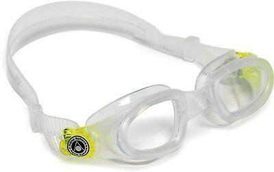 Aqua Sphere Mako Swim Goggle Clear Lens Transluscent/Lime - NWT