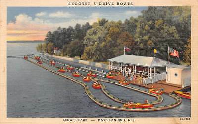 MAYS LANDING, NJ, LENAPE AMUSEMENT PARK, SKOOTER U-DRIVE BOATS, CT PUB used 1950
