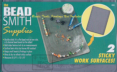 BeadSmith XL  Two Sided Sticky Bead Mat and Bead Board Surfaces 8 x 12