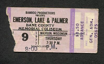 1977 Emerson Lake & Palmer concert ticket stub Madison WI Brain Salad Surgery